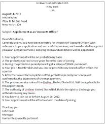 Appointment Letters Adorable Business Communication Write An Appointment Letter To A Candidate