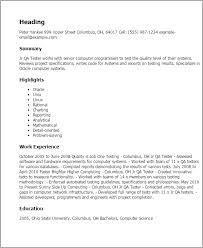 Qa Tester Resume 6 Analyst Techtrontechnologies Com