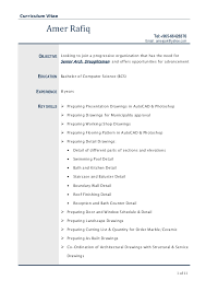 Drafter Resume Autocad Experience Resume