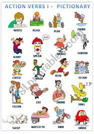 Verb Action Action Verbs Pictionary Esl Worksheet By Sapaotog