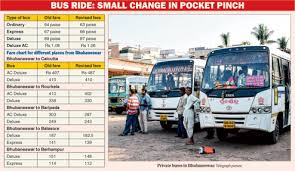 Odisha Bus Fare Chart Fare Cut Too Little To Cheer About