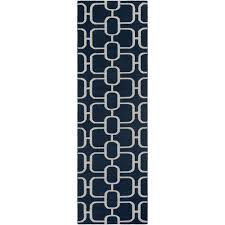 bryn navy 3 ft x 8 ft runner rug