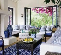 David Dalton Designer Madeline Weinrib Blue Ikat Cotton Carpet Interior By David