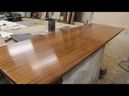 finishing a wooden countertop