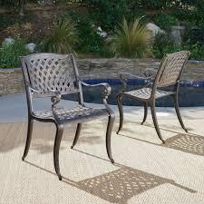 Image Exciting Patio Furniture Covington Bronze Cast Aluminum Outdoor Chairs set Of 2 Gdf Studio
