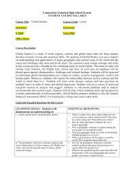 Syllabus Template High School Global Studies Syllabus Template