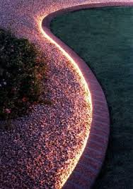 cheap outdoor lighting ideas. LED Lights For Yard Landscaping, Accentuating Curved Flower Beds Cheap Outdoor Lighting Ideas