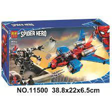 Kèm quà tặng 20k] Đồ chơi Lego xếp hình lắp ráp LARI SPIDER HERO 11500-siêu  anh hùng người nhện