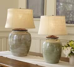 Courtney Ceramic Table Lamp Base - Blue
