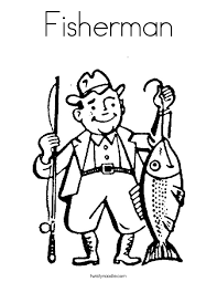 Small Picture Fisherman Coloring Page Twisty Noodle