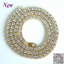 2018 rushed hip hop jewelry men s hip hop bling iced out tennis chain 1 row