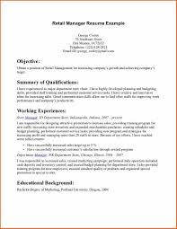 Resume Example For Retail Resume Format Download Pdf Free Job Resumes