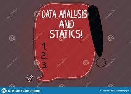 Word Writing Text Data Analysis And Statics Business