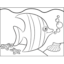 A sawfish, a tropical fish. Cute Tropical Fish Printable Coloring Page Free To Download And Print Color The Tropical Fish In This Fish Coloring Page Ocean Coloring Pages Coloring Pages