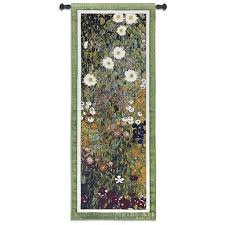 flower guard garden art noveau tapestry wall hanging modern floral design h52 x w20  on tapestry art designs wall hangings with flower guard garden art noveau tapestry wall hanging modern floral
