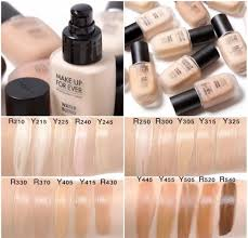 swatches of the new makeup forever water blend face and body foundation lightweight formula with 80 vitamin enriched water to keep your skin hydrated