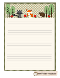 Free Writing Paper Free Printable Woodland Writing Paper