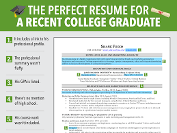 Recently Graduated Resume Excellent Resume For Recent Grad Business Insider College Best Resume