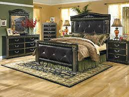 ASHLEY FURNITURE B175 Coal Creek - Traditional Queen King Poster Bed Bedroom Set