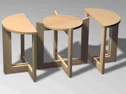 Elegant Modern Nesting Coffee Tables