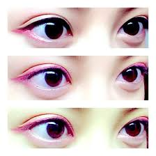 from anese fashion site soup plus makeup eyemakeup eyeliner colormakeup pink red an asian make up ideas eyeli