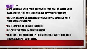 body paragraphs body paragraphs in your essays a body step 2 use your key words to develop your topic sentences 1