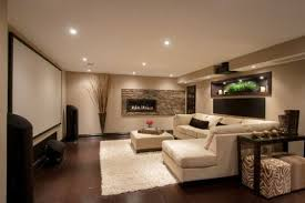Cool Basements Modern Fireplace And Huge Move Screen With An Inside Ideas