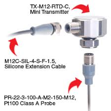 pt temperature transmitter txm12 transmitter pt100 probe and output cable