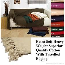 cream honeycomb waffle 100 cotton sofa