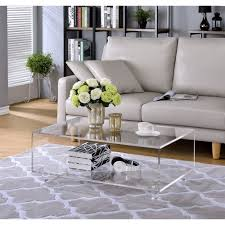 Fox Acrylic 2 Tier Coffee Table (Coffee Table), Clear