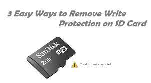 remove write protection on sd card