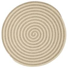 home decorators collection charmed natural 7 ft x 7 ft braided round area rug