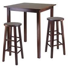 winsome parkland 3 piece square pub table set 180 98