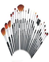 details of pack of 23 professional artistic makeup brush kit