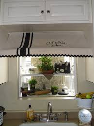 Garden Window For Kitchen Cafe De Paris Awning Curtain I Made For My Garden Window