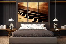 3 piece canvas wall art musical instrument canvas photography music huge canvas print piano key multi panel art brown photo canvas on wall art canvas picture print with 3 piece canvas wall art musical instrument canvas photography