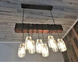 <b>Pendant Lights</b> Glass Jar Light Fixture Wood Light Fixture Modern ...