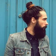 if you ve gone to the trouble of growing your hair long why not have as much fun with it as possible this messy man bun hairstyle reveals playful ombre
