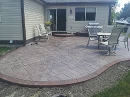 Simple Concrete Patio Designs For Overlay Poured Fabulous Decorative Resurfacing On Decorating Ideas