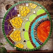 mosaic tile art projects. Wonderful Art Handmaid OOAK Mosaic Mandalla Wall Art By Thyme Again Studio And Tile Art Projects A