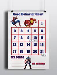 avengers good behavior sticker chart 128270zoom