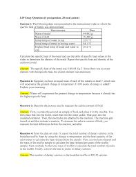 L09 Essay Questions Grade B Chem101l Byu Idaho Studocu
