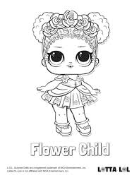 Child Coloring Pages Flower Page Lotta Lol Surprise Series 3 816