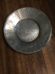 Pottery Barn Decorative Bowls Pottery Barn Centerpiece Large Round Hammered Tin Decorative Bowl 2