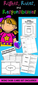 best ideas about rights and responsibilities a complete unit to help you teach all about rights rules and responsibilities