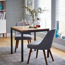 box frame square dining table wood west elm for the eat in kitchen