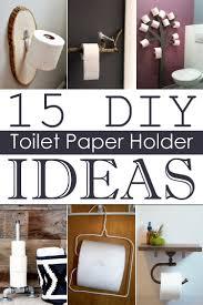 Toilet paper holder ideas Bathroom Storage Cool Diy Ideas 15 Diy Toilet Paper Holder Ideas