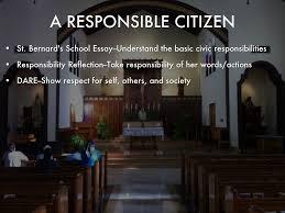 s l e project by julesrox a responsible citizen st bernard s school essay understand the basic civic responsibilities