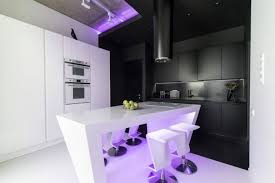 neon furniture. Bedroom Neon Lights 123 Modern Bed Furniture Apartment In Moscow