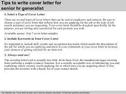 senior hr generalist cover letter 3 tips to write cover letter for human resources cover letters
